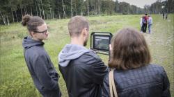 Summerschool participants  exploring the landscape